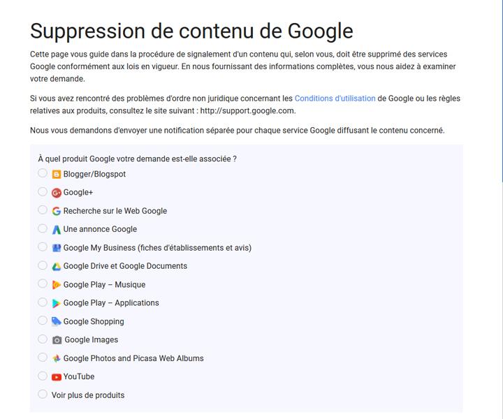 E réputation droit à l'oubli Google