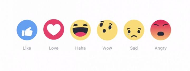 Smileys réactions sur Facebook
