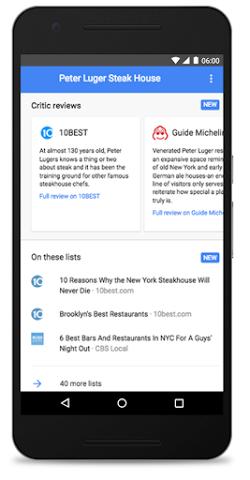 Avis commerce local Google