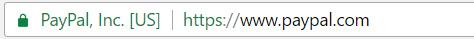 Barre adresse verte EV SSL