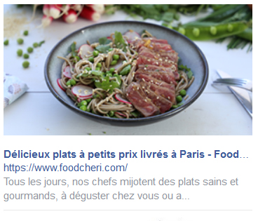 Facebook Ads barre lateral