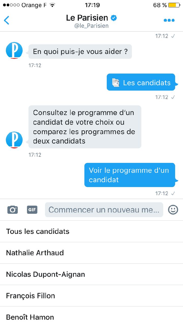 Chatbot le Parisien