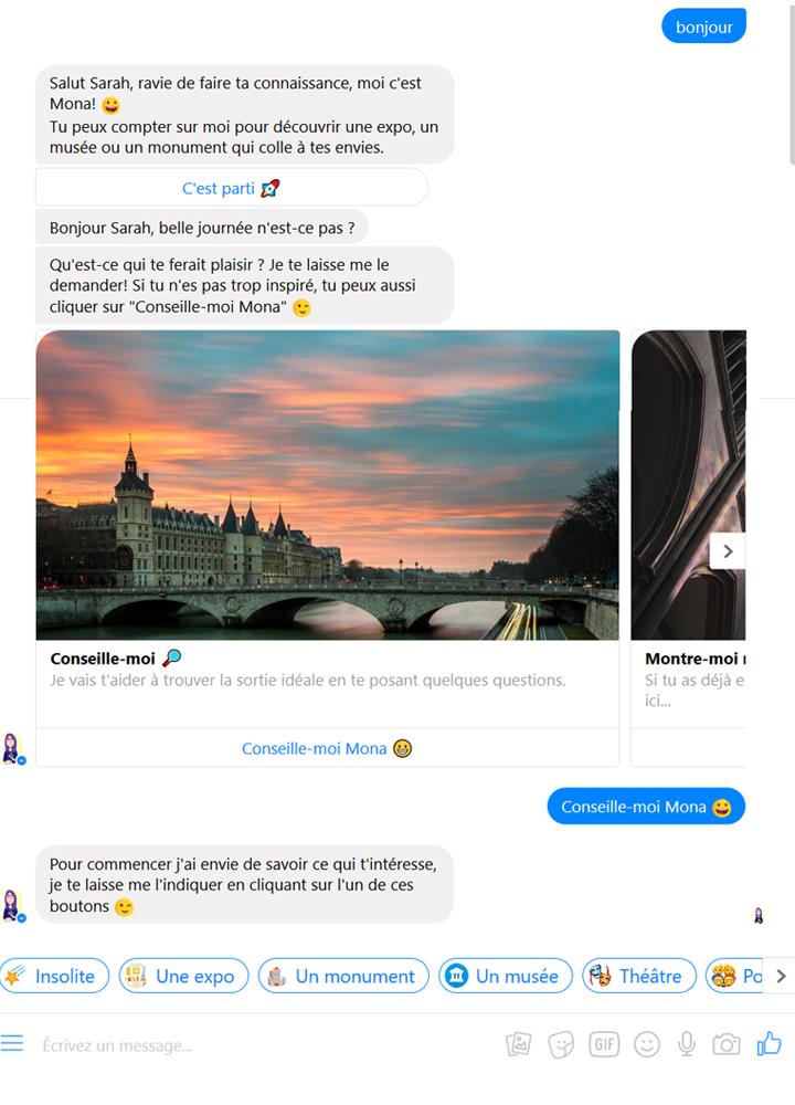 Exemple chatbot tourisme