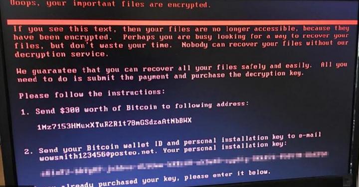 Ransomware cyberattaque