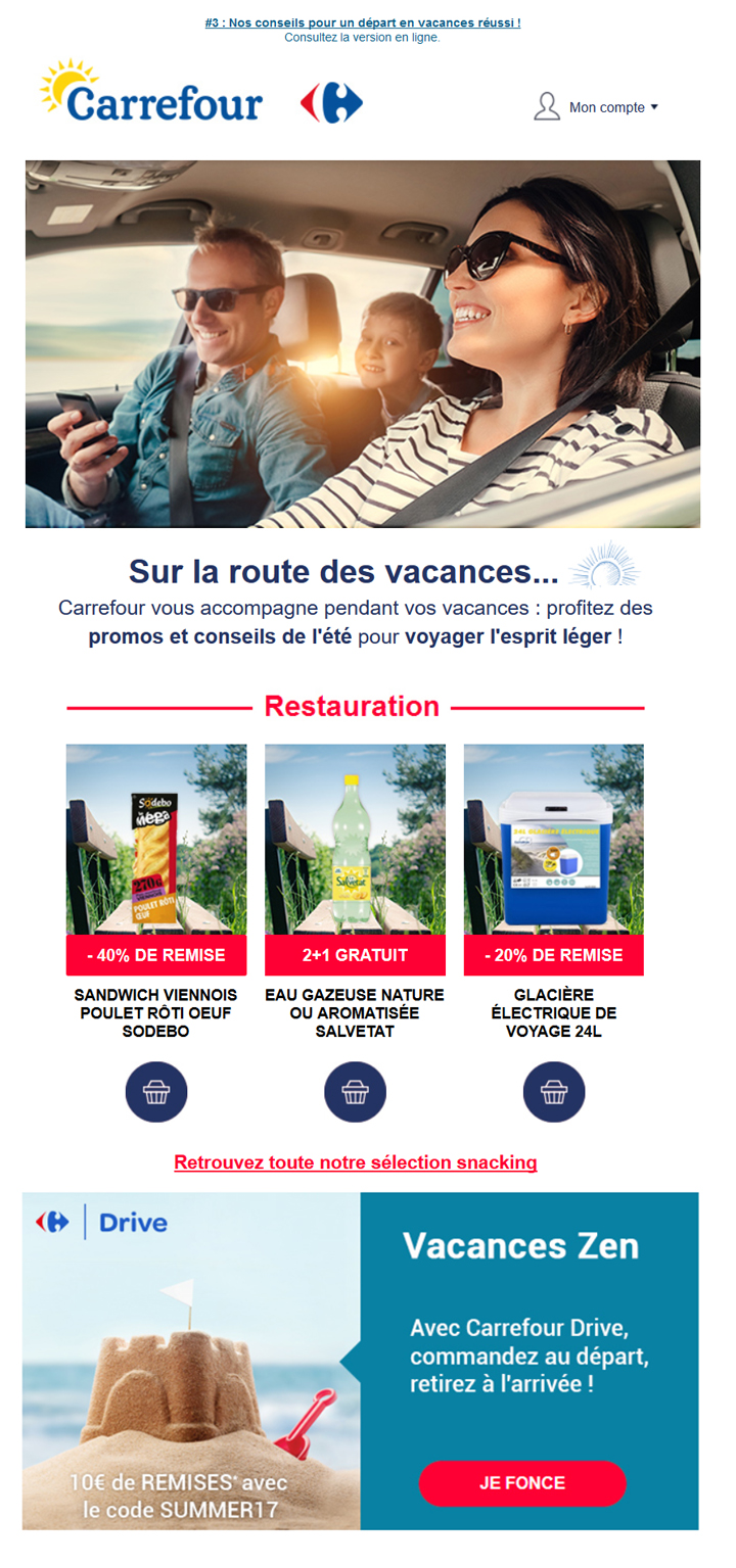 Newsletter été Carrefour