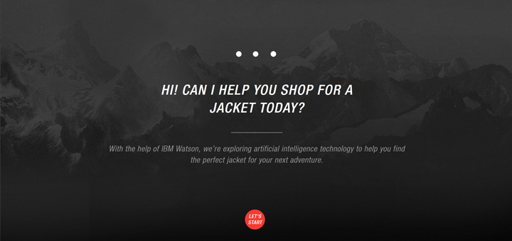 IA e-commerce north face