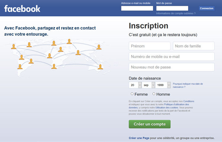 webdesign bleu Facebook
