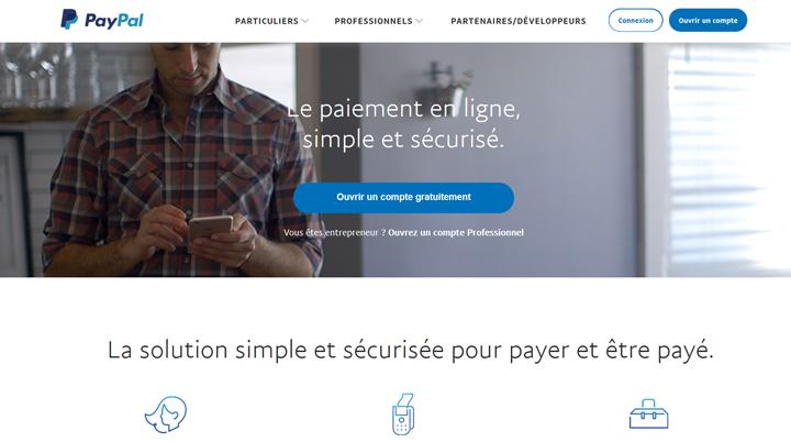 webdesign bleu paypal