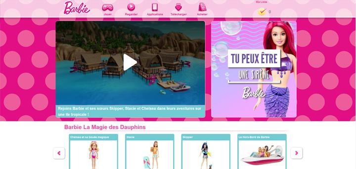 Webdesign rose Barbie