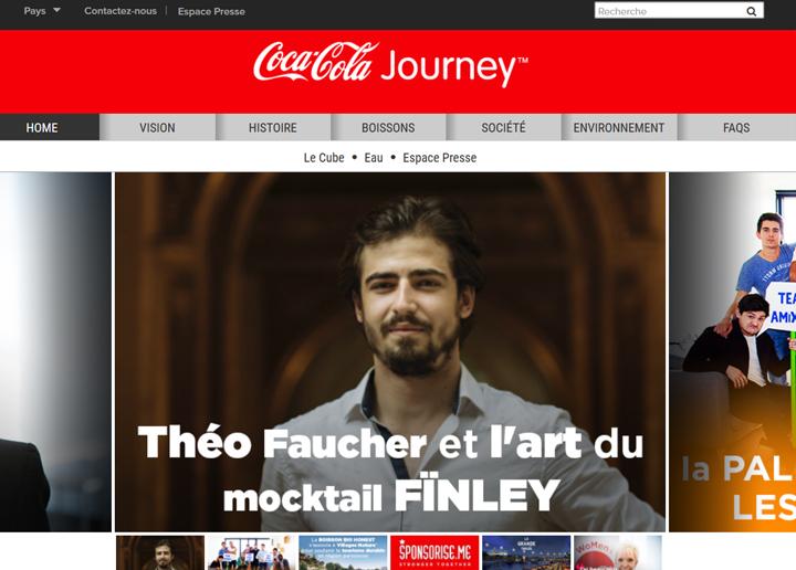 Webdesign rouge Cola Cola