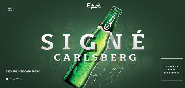 Webdesign vert Carlsberg