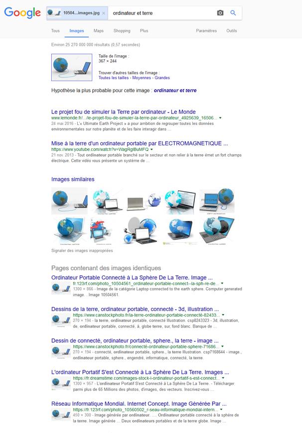 Image inversée Google