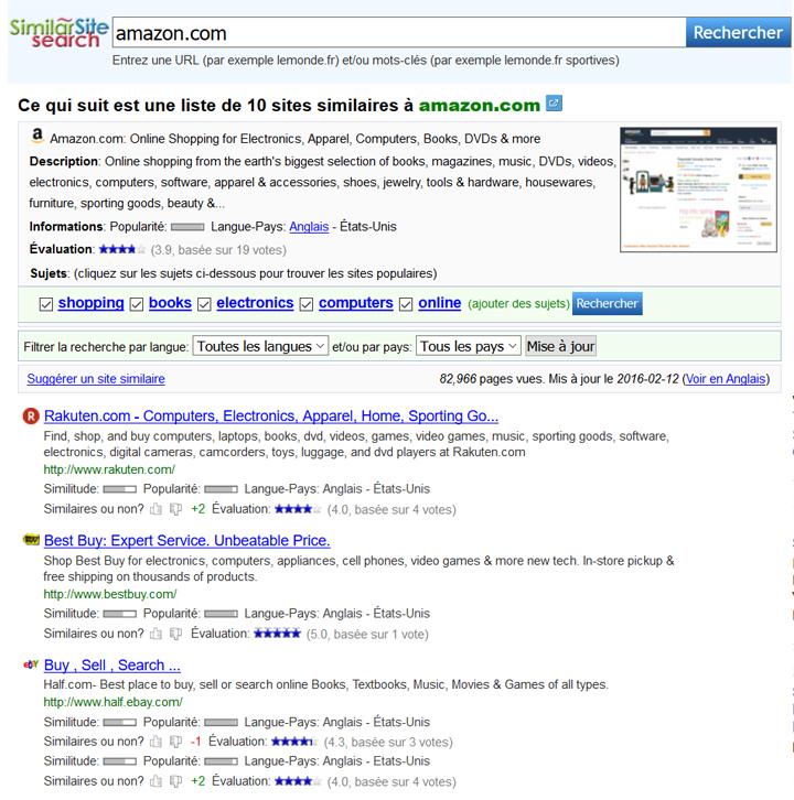 Similar search backlink