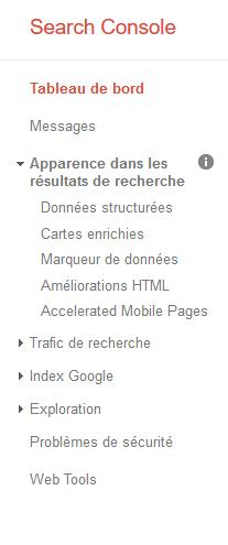 Données structurées Google Search Console