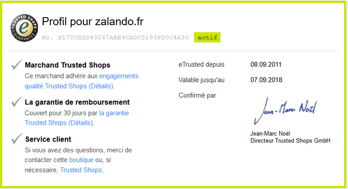 RGPD e-commerce Zalando