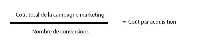 Calcul coût acquisition client