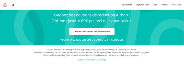 Acquisition parrainage Airbnb