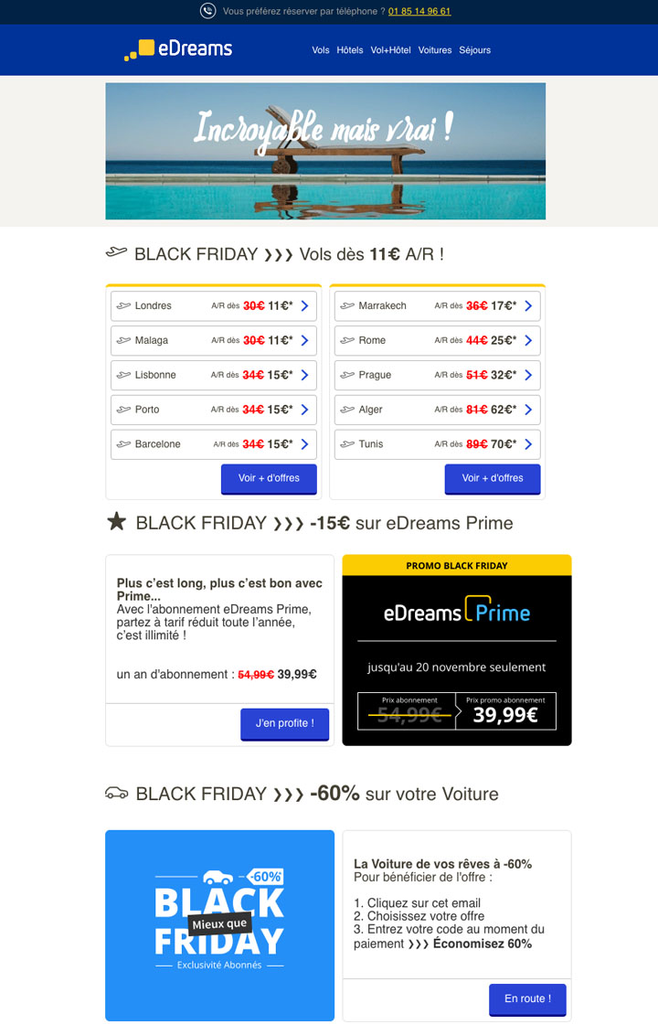 Exemple Email marketing Black Friday