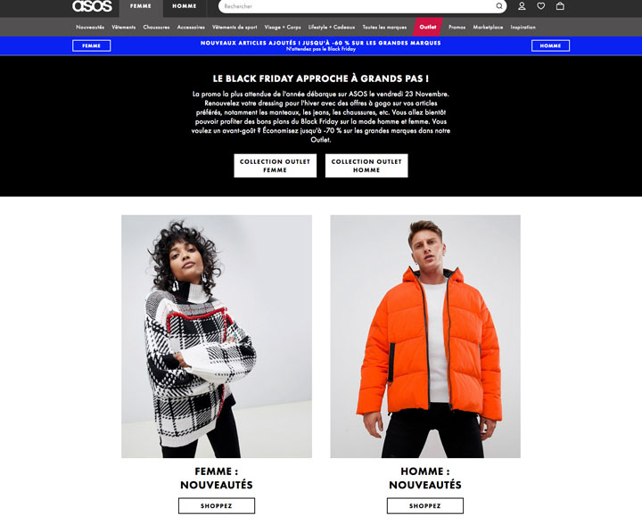 Exemple Landing page Black Friday