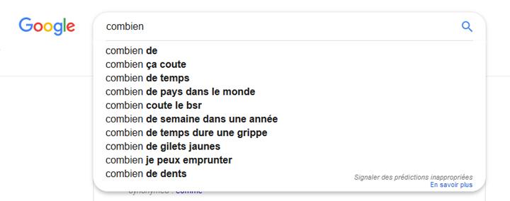 Atteindre position zéro Google Suggest