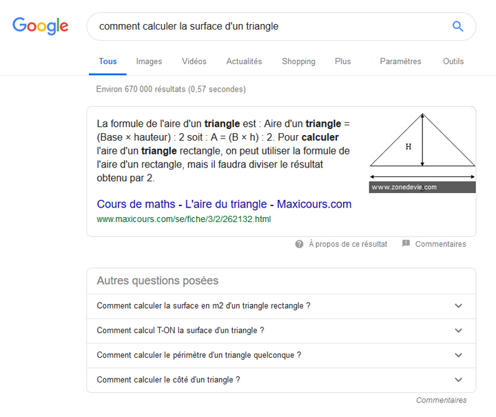 Exemple featured snippet paragraphe