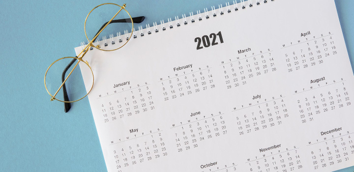 Calendrier marketing santé médical 2021