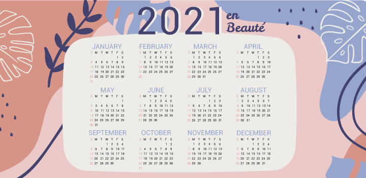 calendrier marketing beaute 2021