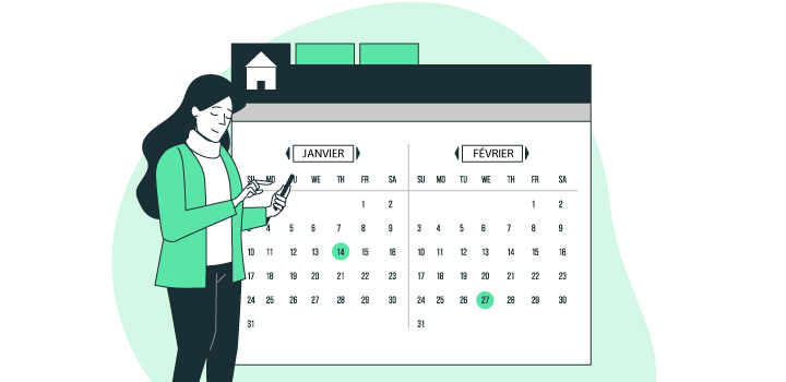 Calendrier marketing immobilier 2021