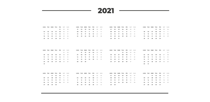calendrier marketing luxe 2021