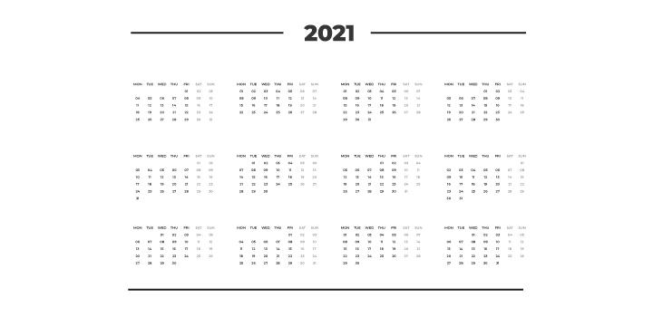 Luxury 2021 Marketing Calendar (Key Dates and Events)