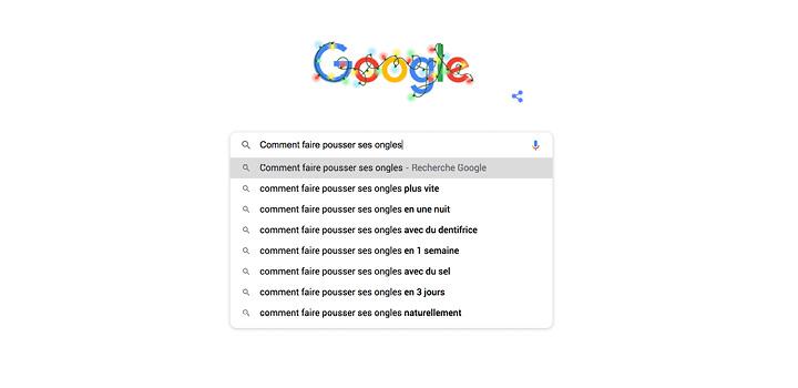 top recherches beaute google france
