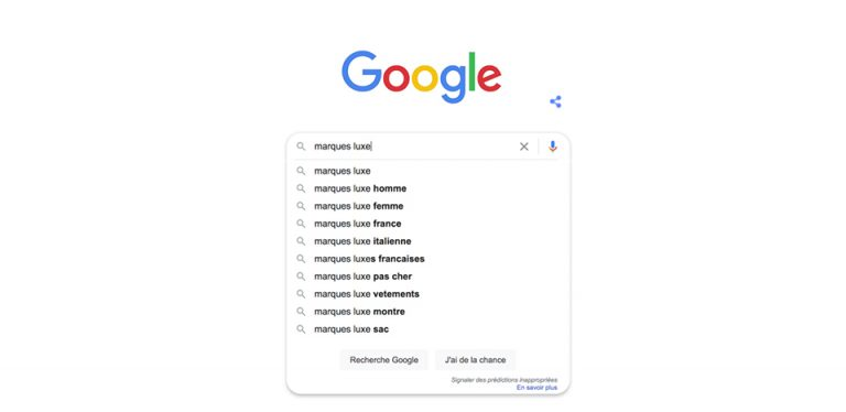 top requetes luxe google france