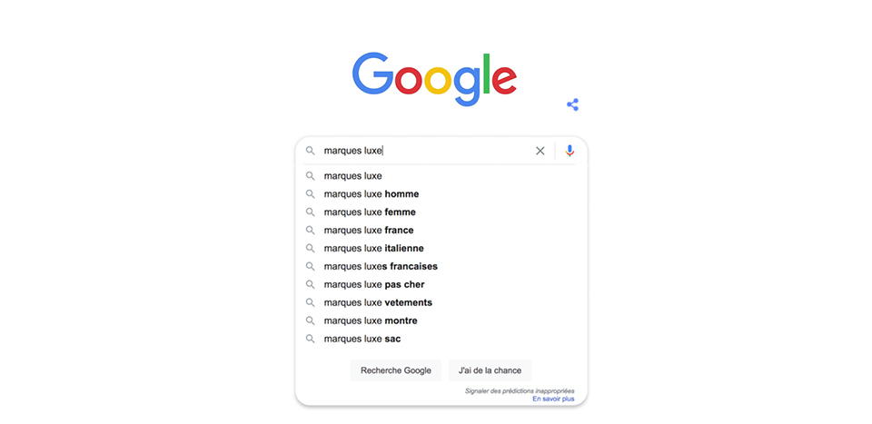 Top luxury searches on Google in France