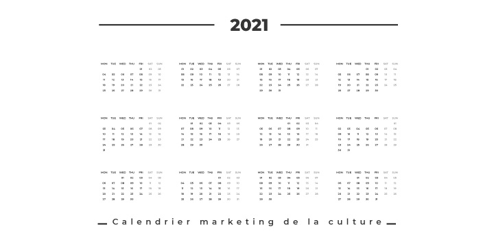 Calendrier marketing de la culture en 2021 (dates et évènements clés)