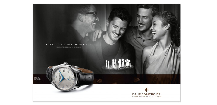 Life is about moments Baume & Mercier