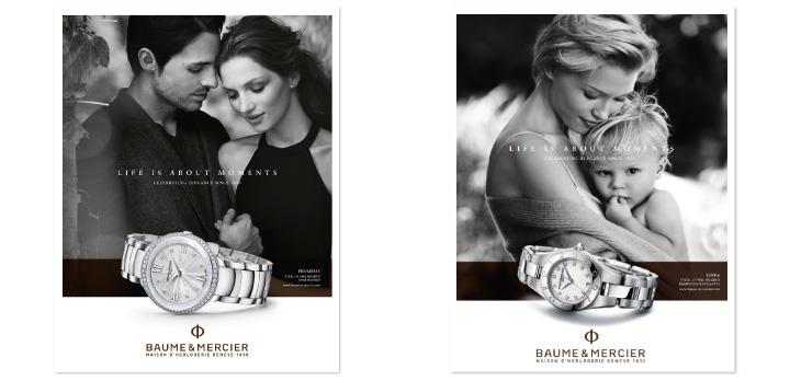 Publicite horlogerie montre Baume & Mercier