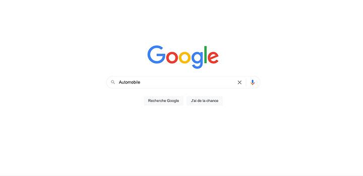 top recherche requêtes automobile Google
